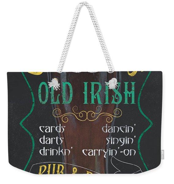 O'malley's Old Irish Pub Weekender Tote Bag