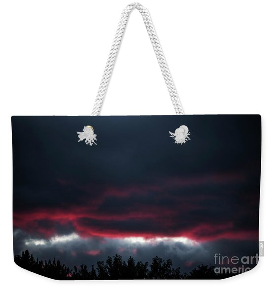 Ominous Autumn Sky Weekender Tote Bag
