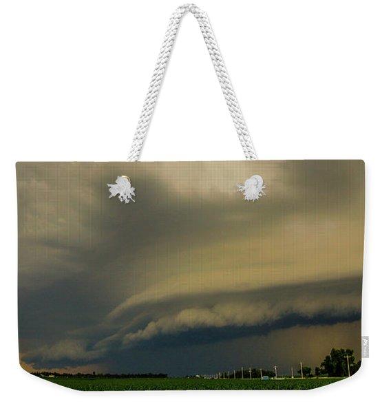 Weekender Tote Bag featuring the photograph Ominous Nebraska Outflow 007 by NebraskaSC