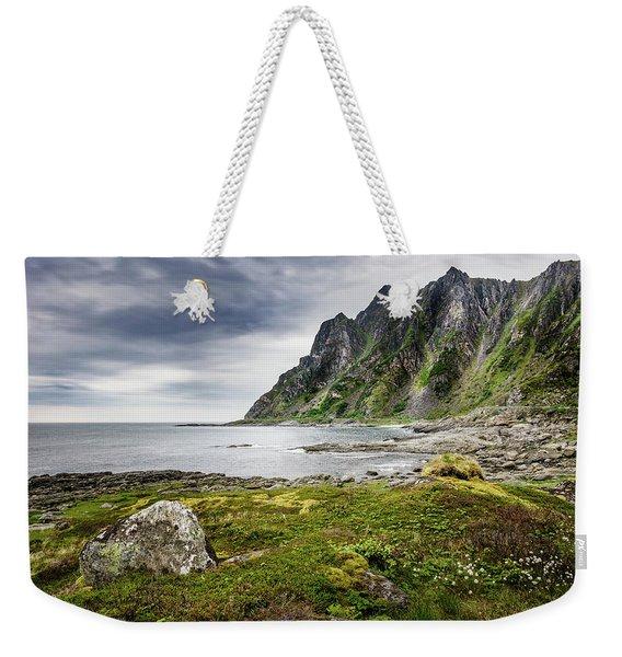 On A Beach Of Andoya Weekender Tote Bag