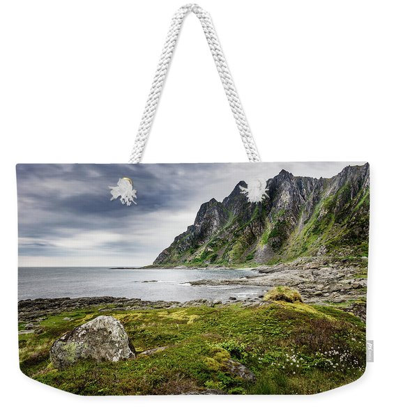 Weekender Tote Bag featuring the photograph On A Beach Of Andoya by Dmytro Korol