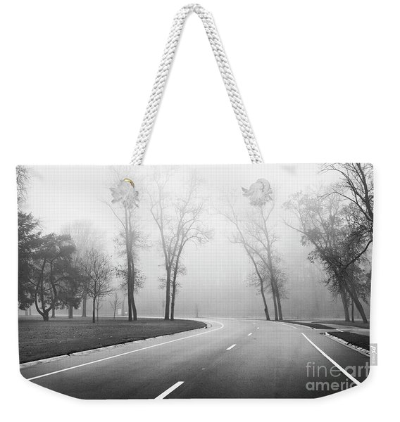 On A Foggy Morning Weekender Tote Bag