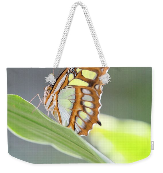 On A Leaf Weekender Tote Bag