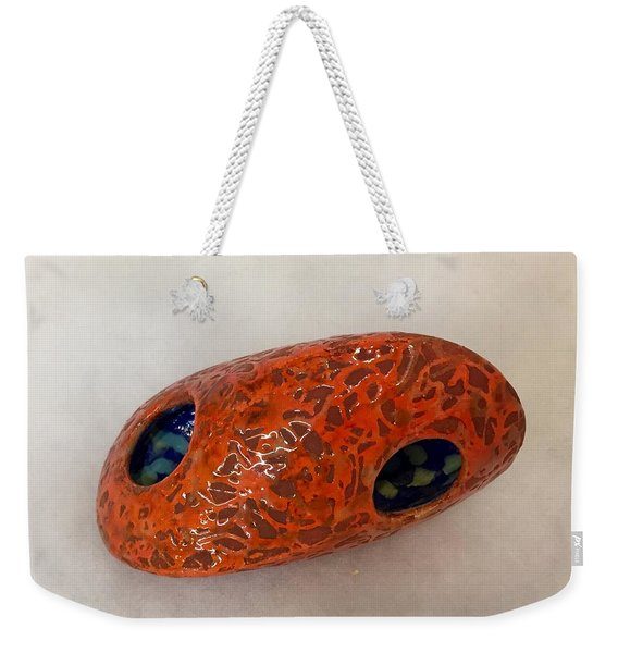 On Fire Centering Stone Weekender Tote Bag