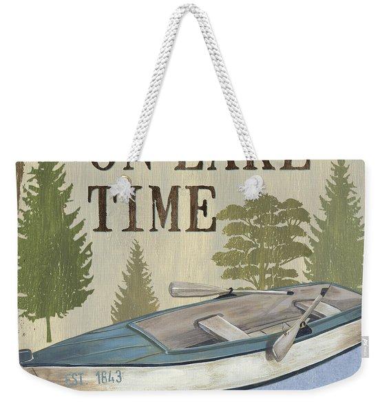 On Lake Time Weekender Tote Bag