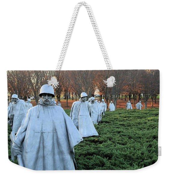 On Patrol The Korean War Memorial Weekender Tote Bag