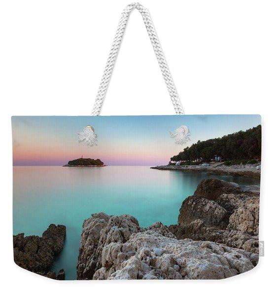 On The Beach In Dawn Weekender Tote Bag