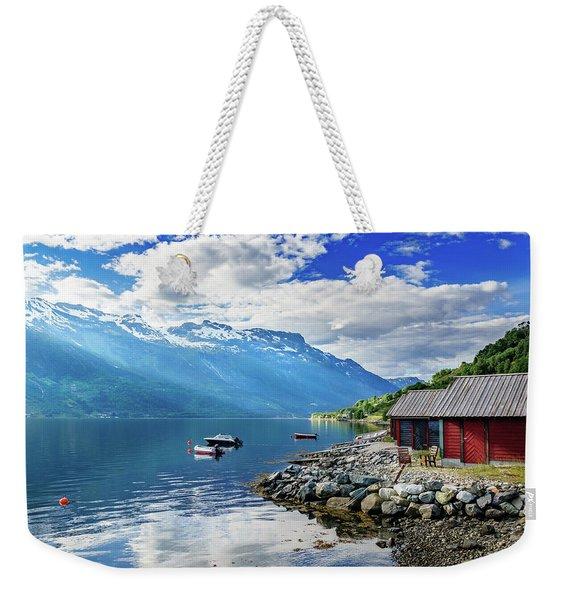 On The Beach Of Sorfjorden Weekender Tote Bag