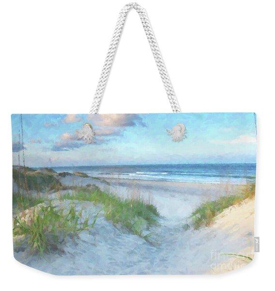On The Beach Watercolor Weekender Tote Bag