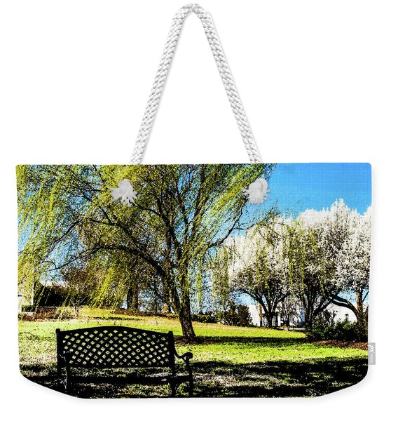 On The Bench Weekender Tote Bag