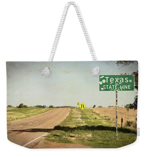 On The Edge Of Paradise - Texas Route 66 Weekender Tote Bag