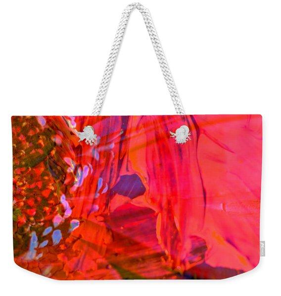 On The Floral Edge  Weekender Tote Bag