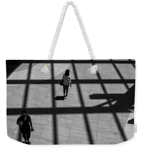 Weekender Tote Bag featuring the photograph On The Grid by Eric Lake