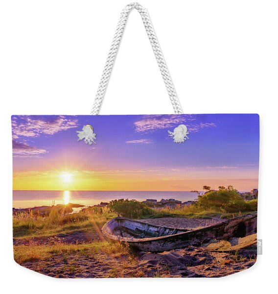 Weekender Tote Bag featuring the photograph On The Last Shore by Dmytro Korol
