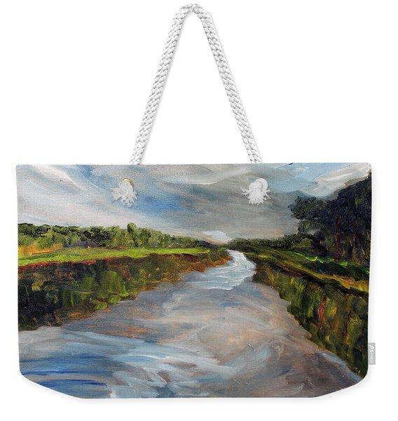 On The Mashpee River Weekender Tote Bag