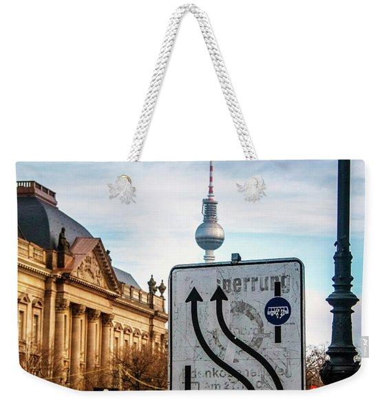 On The Road In Berlin Weekender Tote Bag