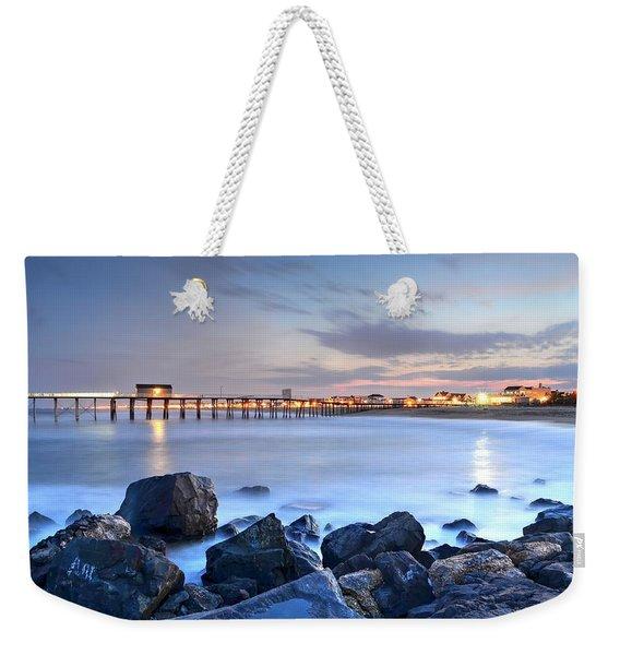 On The Rocks, Belmar Nj Weekender Tote Bag