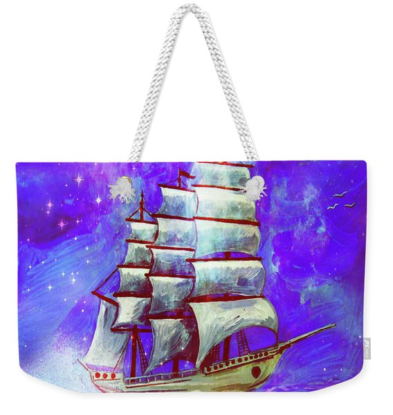 On The Sea At Sunset Weekender Tote Bag