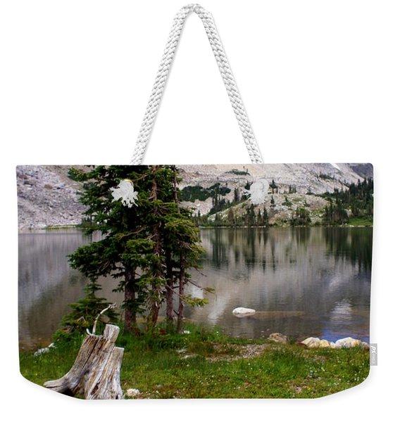 On The Snowy Mountain Loop Weekender Tote Bag