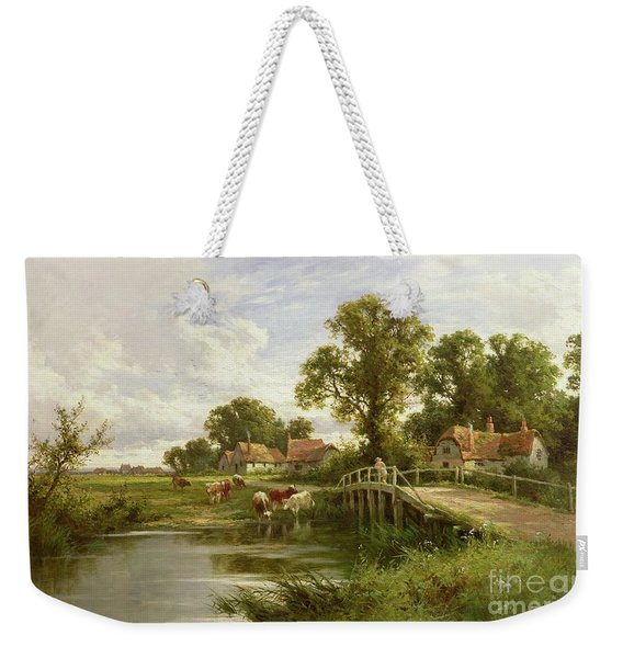 On The Thames Near Marlow Weekender Tote Bag