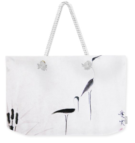 On Typha Pond Weekender Tote Bag