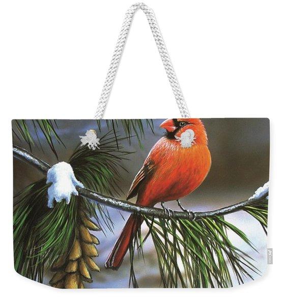 On Watch - Cardinal Weekender Tote Bag