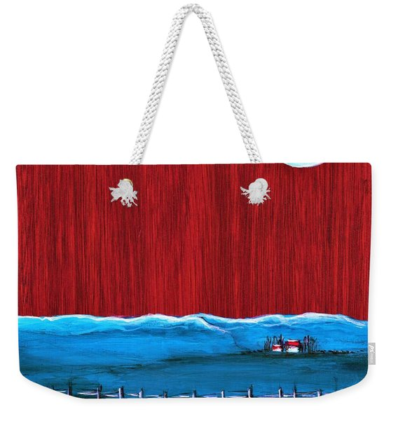 Once In A Blue Moon  Weekender Tote Bag