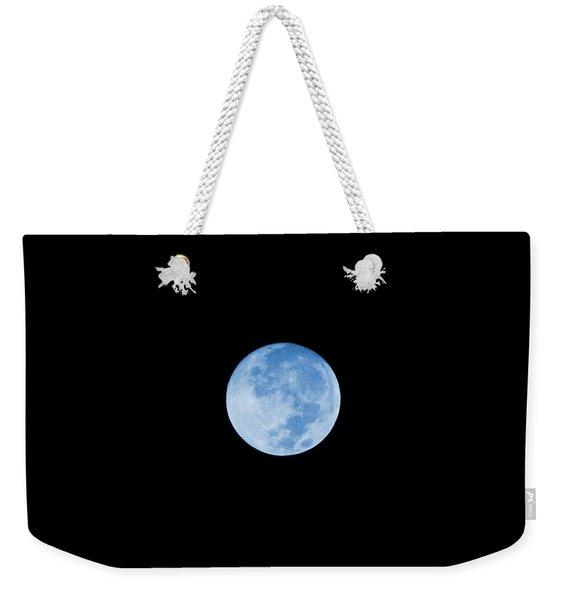 Once In A Blue Moon Weekender Tote Bag