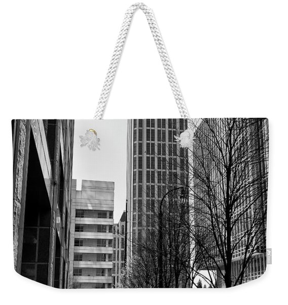 One Atlantic Center In Black And White Weekender Tote Bag