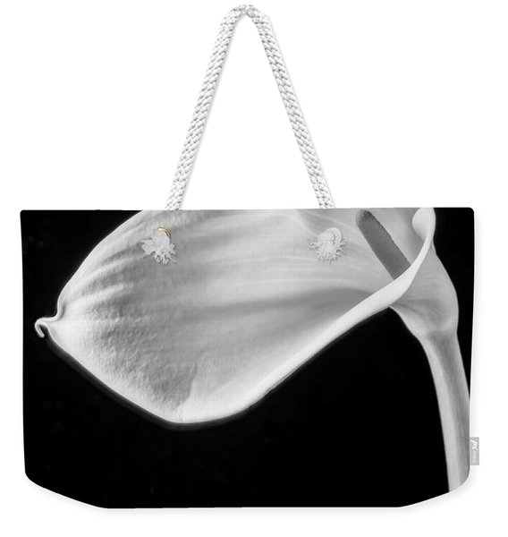 One Beautiful Calla Lily In Black And White Weekender Tote Bag