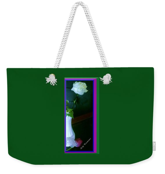 One Carnation And One Rose Bud Weekender Tote Bag