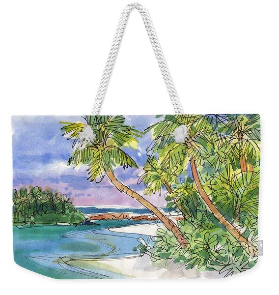One-foot-island, Aitutaki Weekender Tote Bag