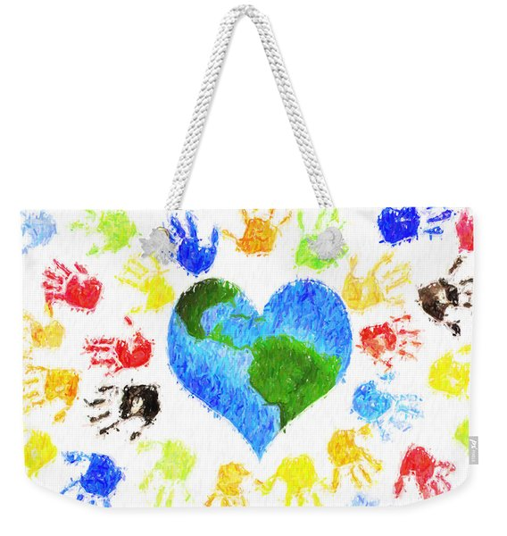 One Heart Weekender Tote Bag