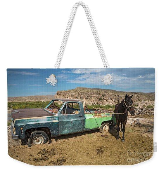 One Horsepower Weekender Tote Bag