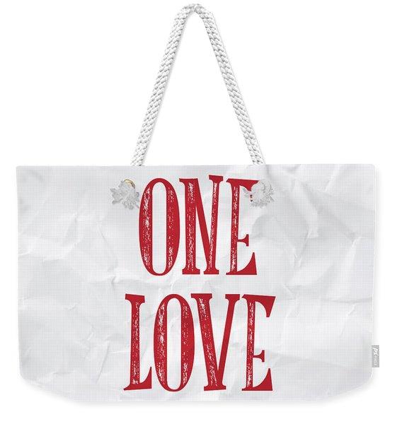 One Love Weekender Tote Bag