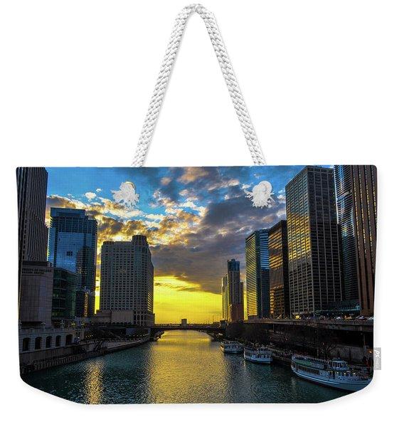 Onto The Lake Weekender Tote Bag