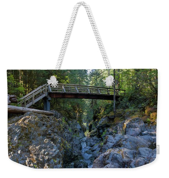 Opal Creek Bridge Weekender Tote Bag