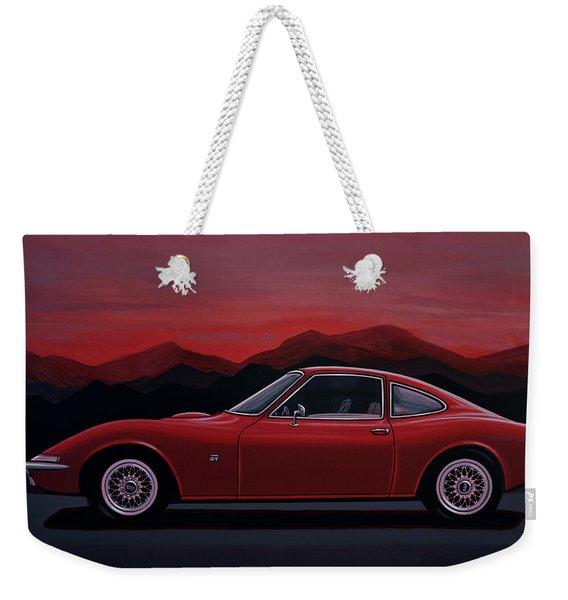 Opel Gt 1969 Painting Weekender Tote Bag
