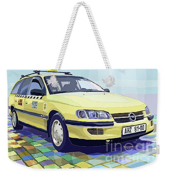 Opel Omega A Caravan Prague Taxi Weekender Tote Bag