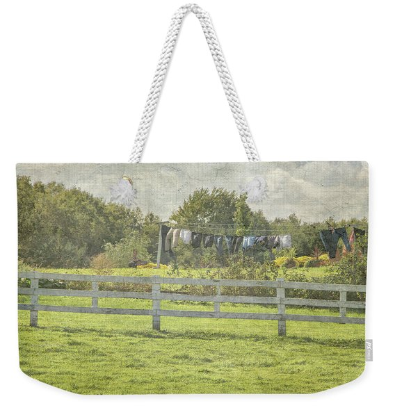 Open Air Clothes Dryer Weekender Tote Bag