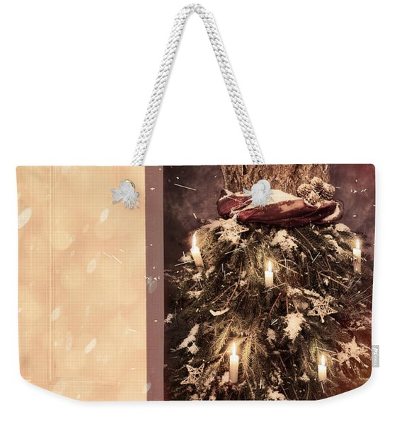 Open Door Into Christmas Weekender Tote Bag