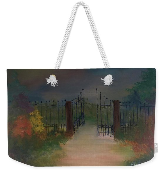 Open Gate Weekender Tote Bag