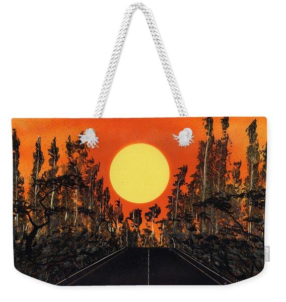 Open Road Weekender Tote Bag