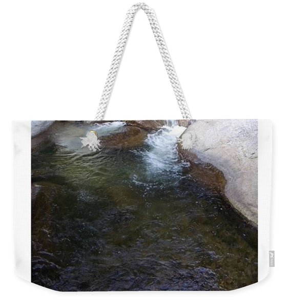 Opencast Flow  From The Source Of Weekender Tote Bag