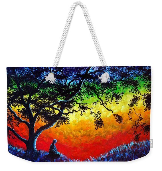 Opening The Chakras Meditation Weekender Tote Bag