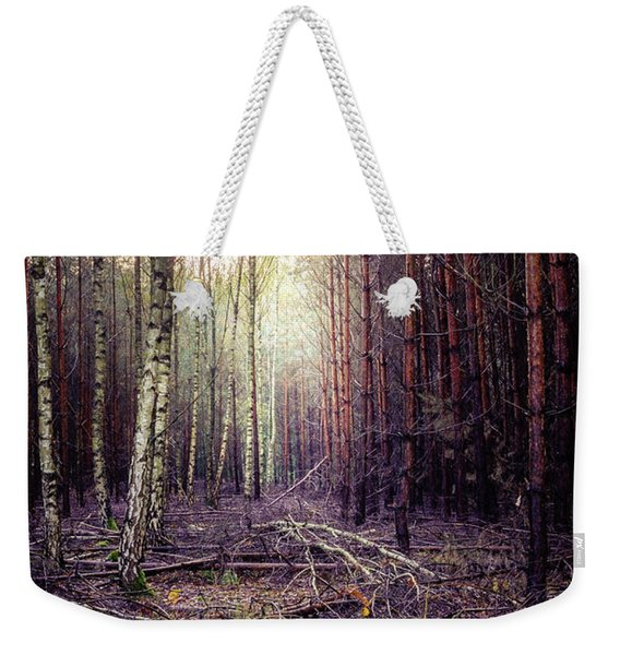 Weekender Tote Bag featuring the photograph Opposition by Dmytro Korol