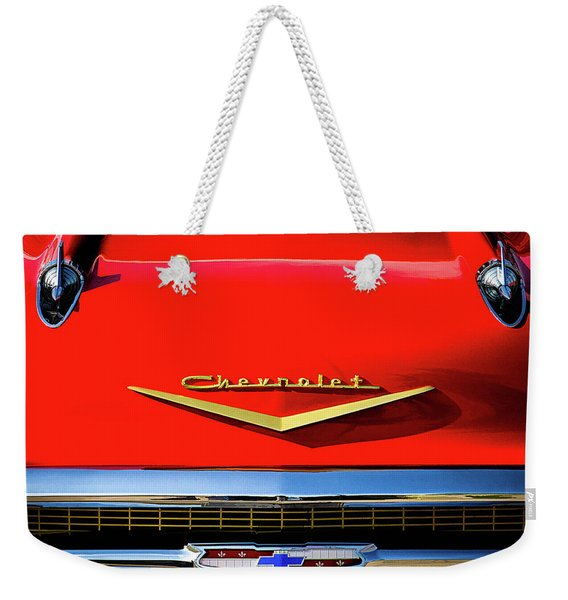 Orange '57 Chevy Weekender Tote Bag