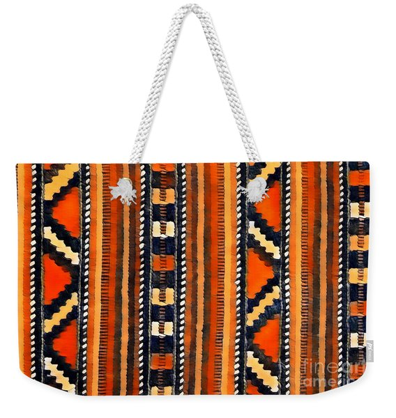 Orange Abstact Pattern Lines And Stripes Weekender Tote Bag