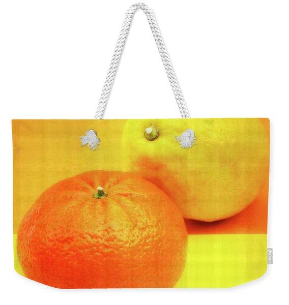 Orange And Lemon Weekender Tote Bag