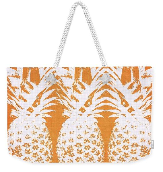 Orange And White Pineapples- Art By Linda Woods Weekender Tote Bag